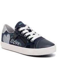 Geox Sneakersy J Gisli G. B J024NB 01002 CF4N4 S Granatowy. Kolor: niebieski