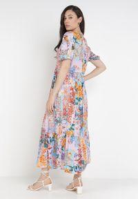 Born2be - Liliowa Sukienka Laomemoni. Kolor: fioletowy