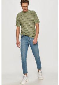 Miętowy t-shirt Only & Sons z nadrukiem, casualowy, na co dzień