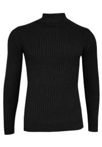 Czarny sweter Brave Soul na zimę, klasyczny