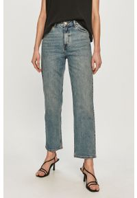 Niebieskie proste jeansy Dr. Denim z podwyższonym stanem