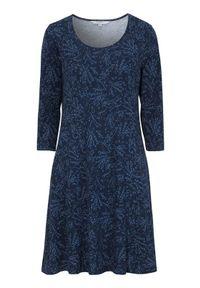 Cellbes Wzorzysta dżersejowa sukienka z bocznymi kieszeniami Czarny niebieski we wzory female czarny/niebieski/ze wzorem 54/56. Kolor: wielokolorowy, niebieski, czarny. Materiał: jersey. Styl: elegancki
