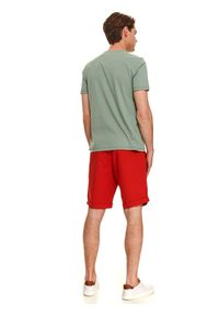Zielony t-shirt TOP SECRET z nadrukiem #4