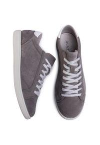 Sneakersy QUAZI - QZ-61-04-000577 209. Okazja: na spacer, na co dzień. Kolor: szary. Materiał: skóra, zamsz. Szerokość cholewki: normalna. Styl: sportowy, casual