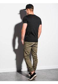 Ombre Clothing - T-shirt męski bawełniany basic S1369 - czarny - XXL. Kolor: czarny. Materiał: bawełna. Styl: klasyczny
