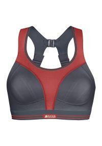 Biustonosz sportowy Shock Absorber Ultimate Run Bra S5044. Materiał: elastan, materiał, syntetyk. Wzór: ażurowy. Sport: bieganie