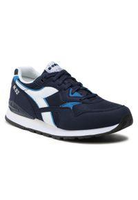 Niebieskie buty sportowe Diadora z cholewką, na co dzień