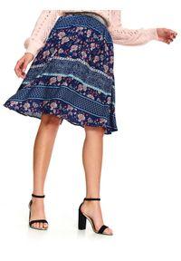 Niebieska spódnica TOP SECRET do kolan, casualowa, na zimę, na co dzień