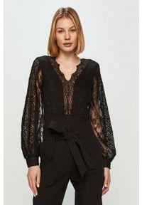 Czarna bluzka Morgan długa, na co dzień, elegancka, gładkie