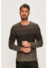 Szary sweter Blend z okrągłym kołnierzem, na co dzień