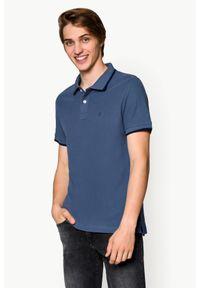 Szara koszulka polo Lancerto klasyczna, z krótkim rękawem, polo