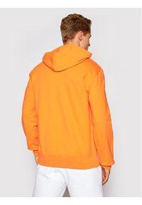 Champion Bluza Satin Script Logo Terry Hoodie 214183 Pomarańczowy Comfort Fit. Kolor: pomarańczowy