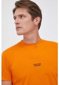 Bomboogie - T-shirt bawełniany. Kolor: pomarańczowy. Materiał: bawełna. Wzór: gładki