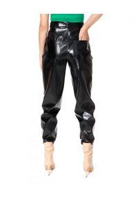 AGGI - Spodnie z wegańskiej skóry Madison. Kolor: czarny. Materiał: skóra. Styl: wizytowy, rockowy