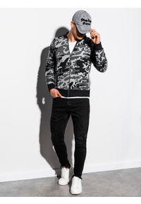 Szara bluza Ombre Clothing moro, bez kaptura #5
