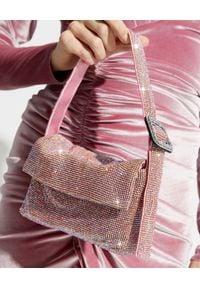 BENEDETTA BRUZZICHES - Kryształowa torebka na ramię Monique Small Light Rose. Kolor: różowy, fioletowy, wielokolorowy. Rodzaj torebki: na ramię