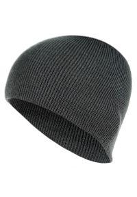 Szara czapka Pako Jeans na jesień, melanż, klasyczna