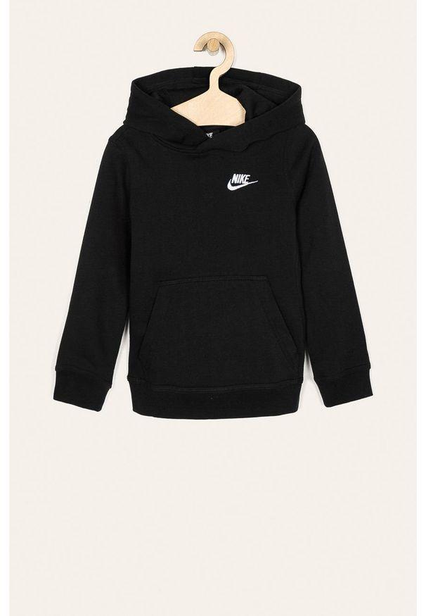 Czarna bluza Nike Kids na co dzień, casualowa, z kapturem
