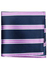 Niebieska poszetka Giacomo Conti w kolorowe wzory