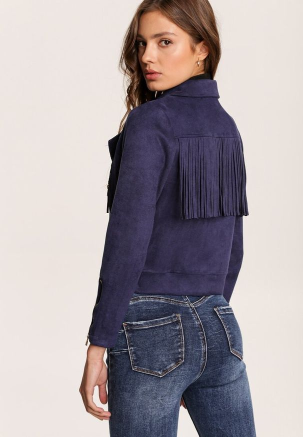 Niebieska kurtka ramoneska Renee