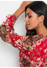 Czerwona sukienka bonprix na lato, z nadrukiem, maxi