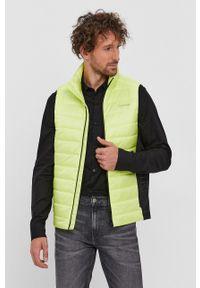 Calvin Klein - Bezrękawnik. Okazja: na co dzień. Kolor: żółty. Długość rękawa: bez rękawów. Styl: casual