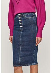 Niebieska spódnica Guess na co dzień, casualowa