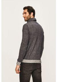 Niebieski sweter PRODUKT by Jack & Jones na co dzień, casualowy, melanż, z golfem #5