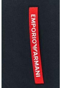 Niebieska bluza rozpinana Emporio Armani na co dzień, z kapturem, casualowa