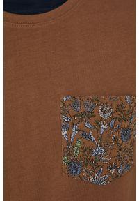 medicine - Medicine - T-shirt bawełniany Tapestry. Kolor: brązowy. Materiał: bawełna. Wzór: nadruk