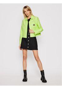 Tommy Jeans Koszula Badge Pocket DW0DW08918 Zielony Regular Fit. Kolor: zielony