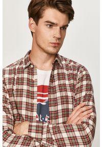 Brązowa koszula Only & Sons długa, casualowa, z klasycznym kołnierzykiem, na co dzień