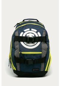 Niebieski plecak Element z aplikacjami