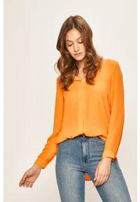 Pomarańczowa koszula Vila długa, casualowa
