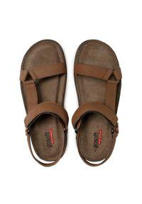 Go Soft - Sandały GO SOFT - MBS-GRANADA-40 Brown. Kolor: brązowy. Materiał: skóra, materiał. Sezon: lato