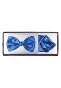 Lancerto - Mucha Kobalt. Kolor: niebieski. Materiał: poliester. Wzór: gładki