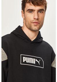 Czarna bluza nierozpinana Puma z kapturem, casualowa