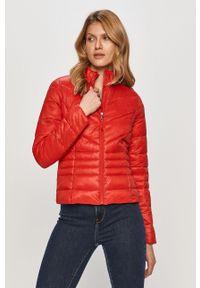 Czerwona kurtka Vero Moda casualowa, bez kaptura, na co dzień