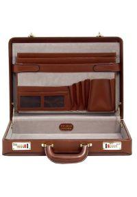 Neseser na laptopa MCKLEIN Reagan 80444 Brązowy. Kolor: brązowy. Materiał: skóra. Styl: biznesowy, elegancki, retro