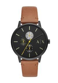 Armani Exchange - Zegarek AX2723. Kolor: brązowy. Materiał: skóra, materiał