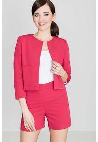 Czerwone spodnie Katrus krótkie, z podwyższonym stanem