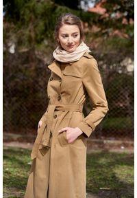 Marie Zélie - Trencz Adria bawełna z elastanem kamelowy. Materiał: bawełna, elastan. Sezon: lato. Styl: klasyczny #6