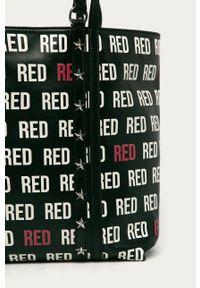 Czarna shopperka Red Valentino klasyczna, duża