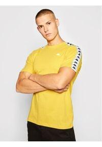 Kappa T-Shirt Hanno 308011 Żółty Regular Fit. Kolor: żółty
