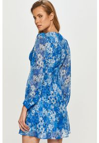Niebieska sukienka The Kooples casualowa, z długim rękawem, mini