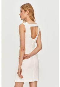 Biała sukienka Guess mini, prosta