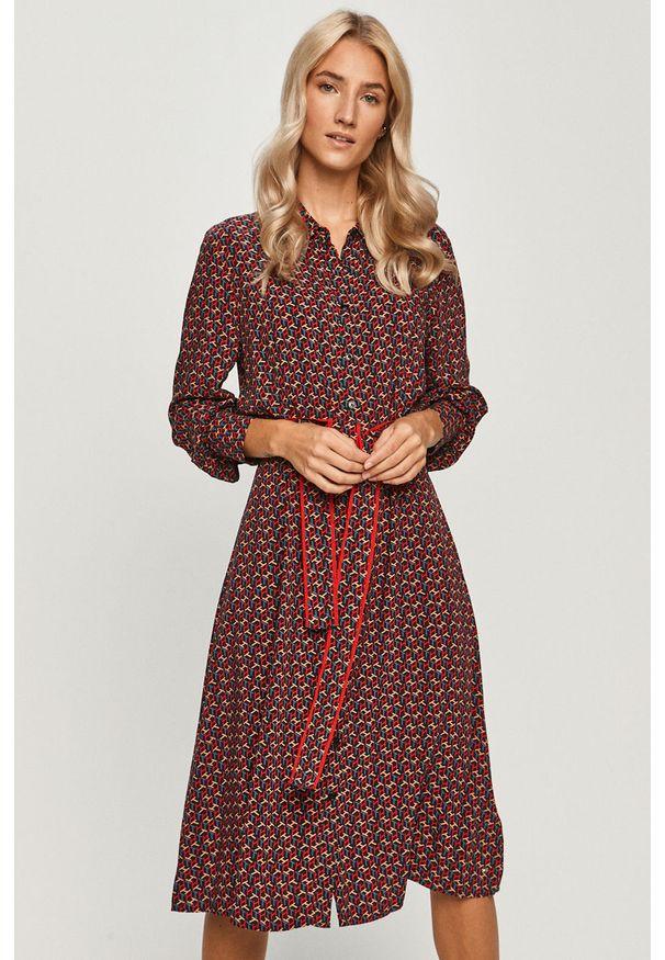 Wielokolorowa sukienka TOMMY HILFIGER mini, prosta, na co dzień