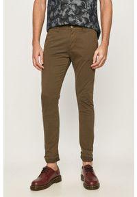 Oliwkowe spodnie Guess