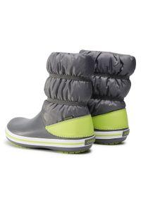 Szare buty zimowe Crocs z cholewką