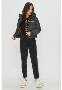 Czarna bluzka Ellesse z aplikacjami, na co dzień, casualowa